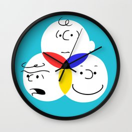 Charlie Brown, colour wheel Wall Clock
