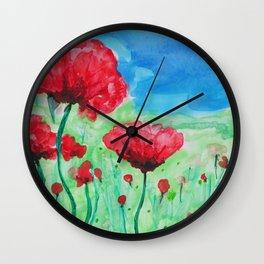 In Flanders Fields Wall Clock