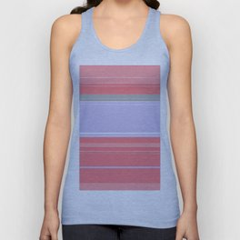 Pink and Purple Plaid Unisex Tank Top