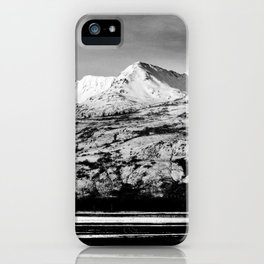 Black and White Mountain Photography Print iPhone Case