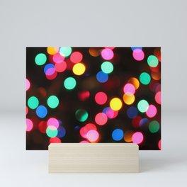 Christmas Bokeh Mini Art Print