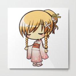 CHIBI (Kimono Version) Metal Print