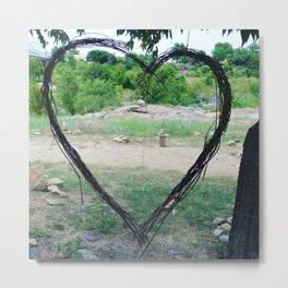 Hippy Heart Metal Print