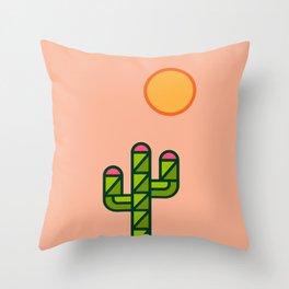 Desert sun / cactus Throw Pillow