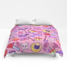 Creepy Cute Pattern Comforters
