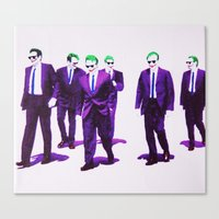 dc comics Canvas Prints featuring JOKER DOGS reservoir dogs batman dark knight rises dc comics by Radiopeach