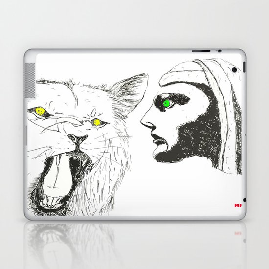 Lion and Man Laptop & iPad Skin