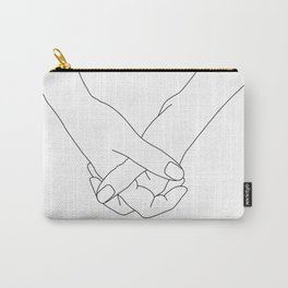 Hands line drawing illustration - Lala Carry-All Pouch