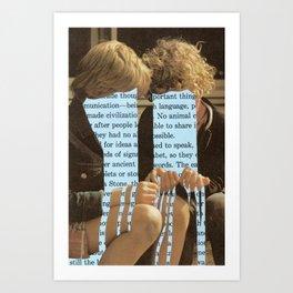 Does language flow through us or we through it? Art Print