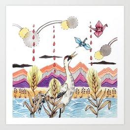Crane Gang Art Print