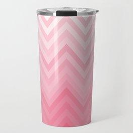 Fading Pink Chevron Travel Mug