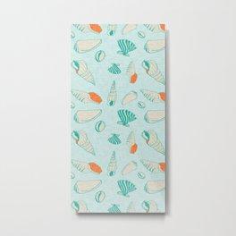 ocean sea shell  Metal Print