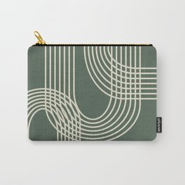 Minimalist Lines in Forest Green Carry-All Pouch