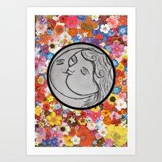 the sun and moon Art Print