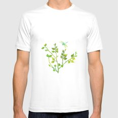 Dragonfly Three  Mens Fitted Tee White MEDIUM