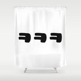 KEKEKE ㅋㅋㅋ Korean Slang Shower Curtain
