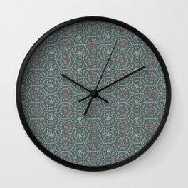 Going Round and Round - Pink/Aqua/Grey Wall Clock