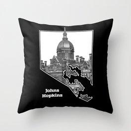 Johns Hopkins Throw Pillow