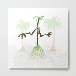 Hula Broom Metal Print