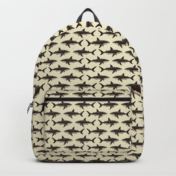 Pattern: Great White Shark ~ Vintage ~ (Copyright 2015) Backpack