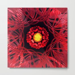 The Sun is the Center Metal Print