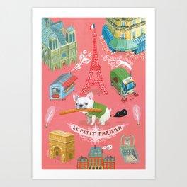 """""""Le Petit Parisien""""  Art Print"""