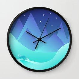 Night Fox Wall Clock