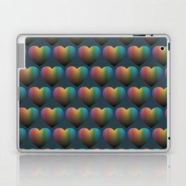 Rainbow Hearts Laptop & iPad Skin