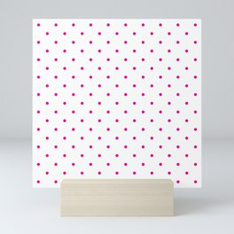 Small Pink Polka Dots Mini Art Print