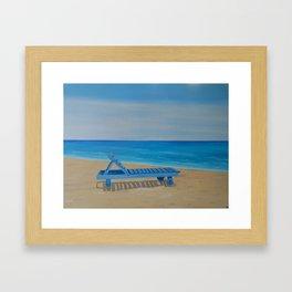 A Relaxing Day Framed Art Print