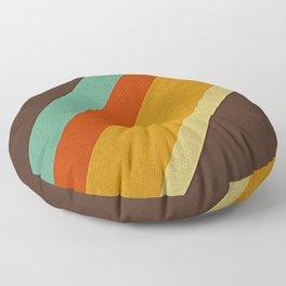 Retro 70s Color Palette Floor Pillow