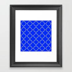 Moroccan Peacock Blue Framed Art Print