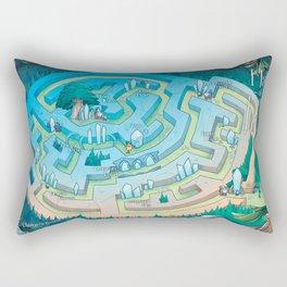 Land of I AM Map Rectangular Pillow