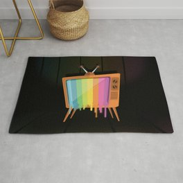 Rainbow TV Rug