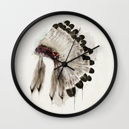 peace headdress Wall Clock
