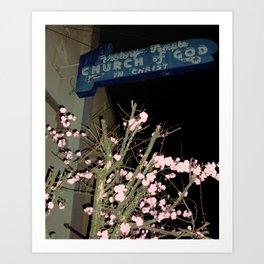 Neon Church Art Print
