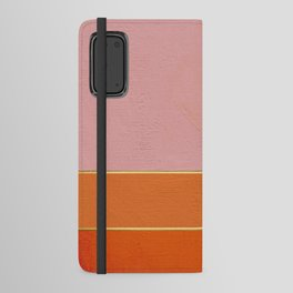 Orange, Pink And Gold Abstract Painting Android Wallet Case