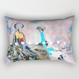 The Lovers In Pink Rectangular Pillow