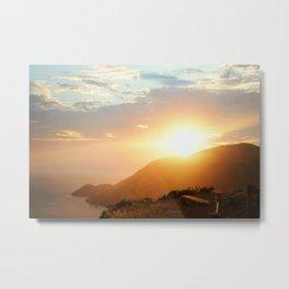 Sunset at Marin Headlands Metal Print
