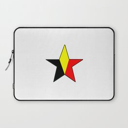 Flag of belgium 6 belgian,belge,belgique,bruxelles,Tintin,Simenon,Charleroi,Anvers,Maeterlinck Laptop Sleeve