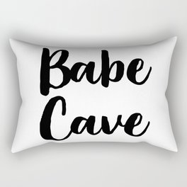 Babe Cave, Quote, Nursery Art Rectangular Pillow
