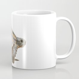 Sideview of A Walking Turkish Tortoise Isolated Coffee Mug