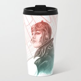 Amelia Earhart - Colourized Travel Mug