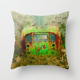 LOVE BUS Throw Pillow
