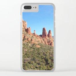 Red Rocks of Sedona, Arizona Clear iPhone Case