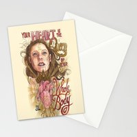 Heart is the Queen Stationery Cards