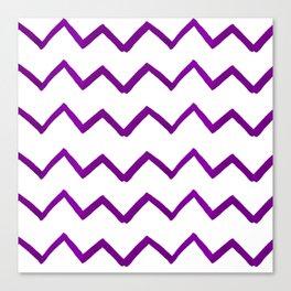 Hand painted purple white watercolor geometrical chevron Canvas Print
