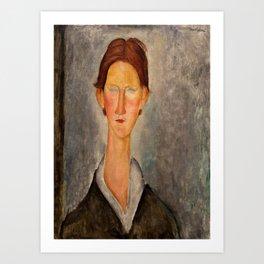 "Amedeo Modigliani ""Portrait Of A Student (L'Etudiant)"" Art Print"