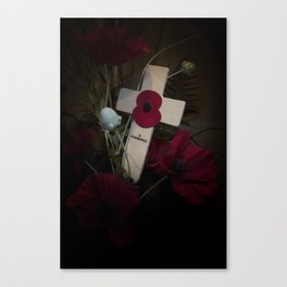 Poppy on the cross Canvas Print