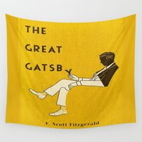 gatsby Wall Tapestries featuring The Great Gatsby by MW. [by Mathius Wilder]